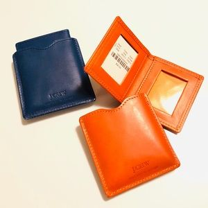 J.CREW mini leather picture wallet